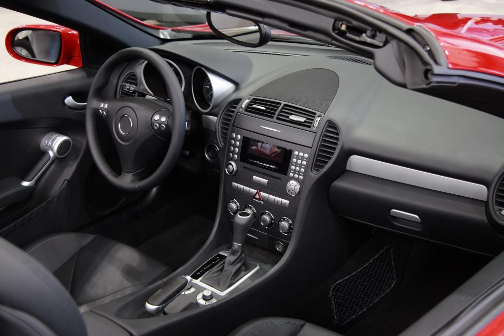 Interior of modern car.